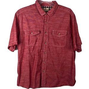 Woolrich Western Button Up Shirt Red Mens 2XL